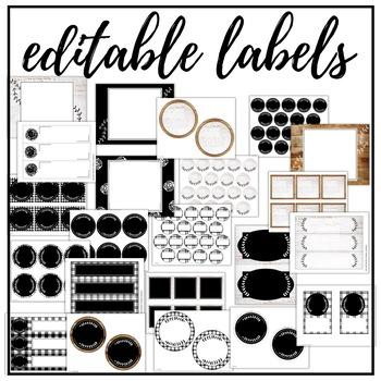 Editable Labels - Simple Farmhouse Decor