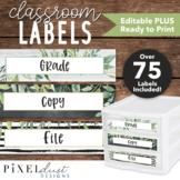 Editable Labels   Sterilite Drawers   Farmhouse Classroom Decor