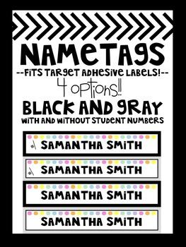 Editable Labels **Target Adhesive Labels FREEBIE