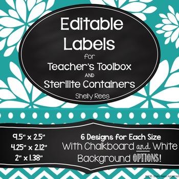 Sterilite Drawer Labels - EDITABLE