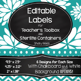 Sterilite Drawer Labels and Teacher Toolbox Labels - EDITABLE