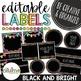 Editable Labels - Techie Brights BUNDLE