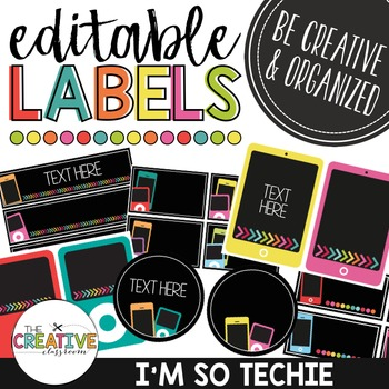 Editable Labels - Technology Theme