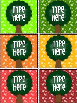 Editable Labels-Tree Labels