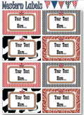Editable Labels - Western Theme