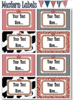 Editable Labels - Western Theme
