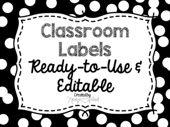 Editable Labels: White Confetti (Polka Dots)