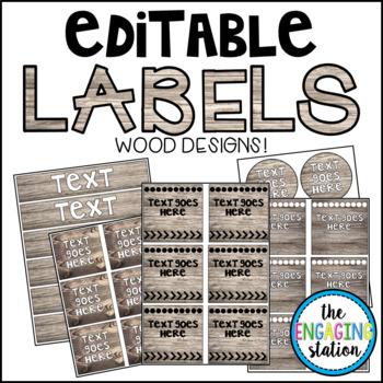 Editable Labels - Wood Design