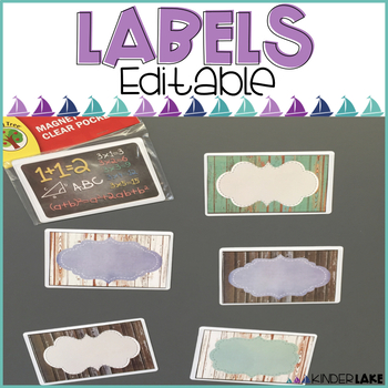 Editable Labels - Woodgrain