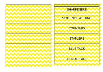 Editable Labels - Yellow Chevron