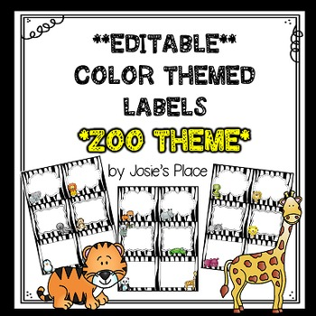 Editable Labels ZOO Theme