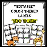 Editable Labels ZOO Theme