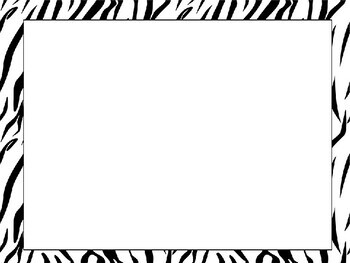 Editable Classroom Labels and Nameplates in Zebra Print Safar for Back to School