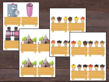 Editable Labels and Name Tags and Desk Plates: Cute Camping