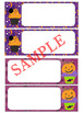 Editable Labels and Name Tags : Halloween Cupcakes