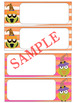 Editable Labels and Name Tags : Halloween Owls