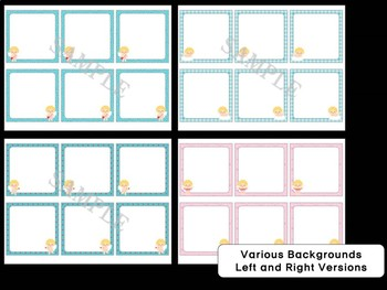 Editable Labels and Name Tags: Cute Cupid, Hearts, Valentine's Day, Desk Plates