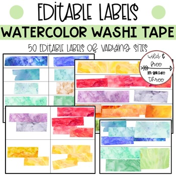 Editable Labels and Tags (50 Editable Labels of Varying Sizes)