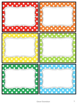 Labels in Polka Dots