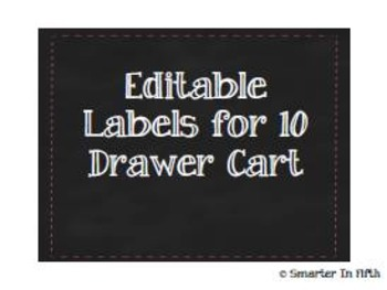 Editable Labels for 10 Drawer Cart