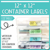 Editable Labels for 12x12 Containers