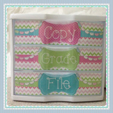 Editable Labels for 3-Drawer File Boxes {Pink/Green/Turquoise}