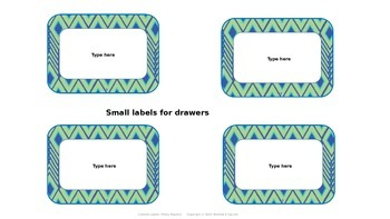 Editable Labels for Cabinets and Drawers-Pretty Peacock