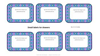 Editable Labels for Cabinets and Drawers--Jazzy Rectangles