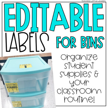 Editable Labels for Drawer Bins and Supplies