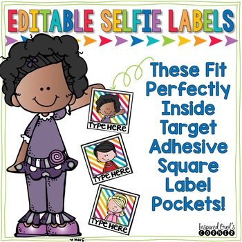 Editable Labels for Target Adhesive Square Label Pockets