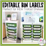 Editable Labels for Trofast IKEA Bins