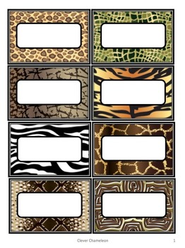 Labels Safari Animals