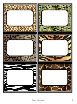 Labels Safari Animals