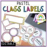 Editable Labels / name tags / Pastel themed
