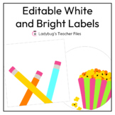 Editable White and Bright Labels