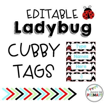 Editable Ladybug Tags