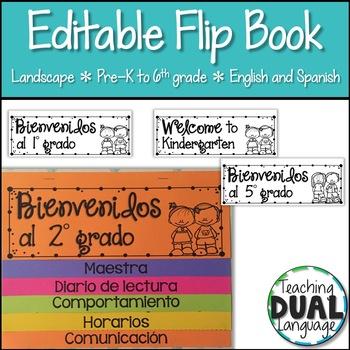 Editable Landscape Flip Book