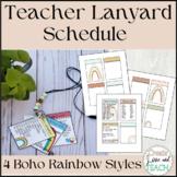 Editable Lanyard List Schedule Bus List Class List