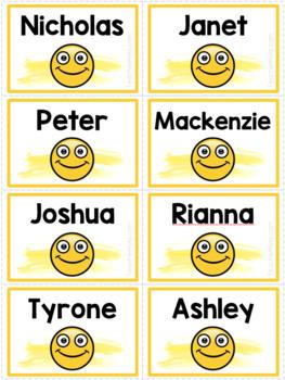 Emoji Name Tags - Editable - for Lanyards