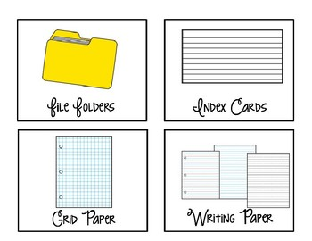 Editable Large White Classroom Supply Labels - Swirly Font