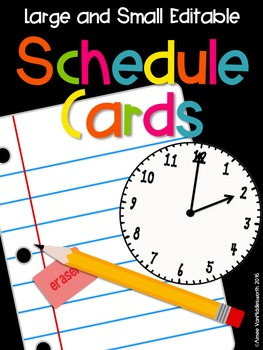 Editable Large and Small Agenda Cards