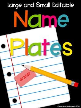 Editable Large and Small Name Plates