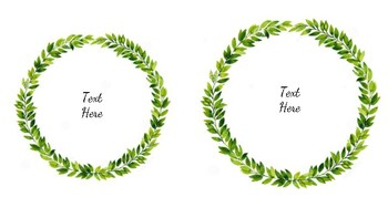 Editable Leafy Wreath Labels