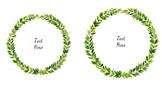 Editable Leafy Wreath Labels