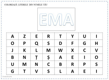 Editable Learn To Write Your Name in Romanian Language