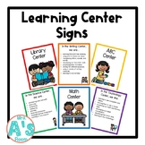 Editable Learning Center Signs