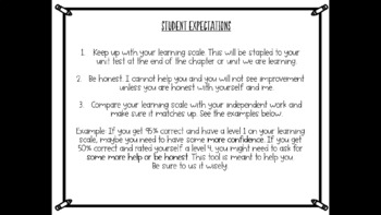 FULL VERSION-Learning Goals and Scales Templates