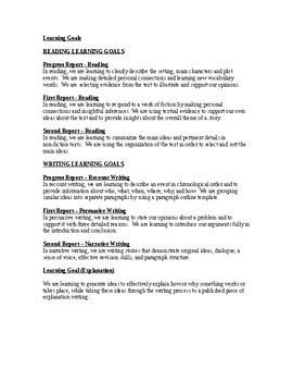 Editable Learning Goals for All Subjects: Grade 4 and Grade 5 Ontario Curriculum