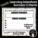 Editable Learning Intention Success Criteria