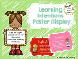 Editable Learning Intentions Poster